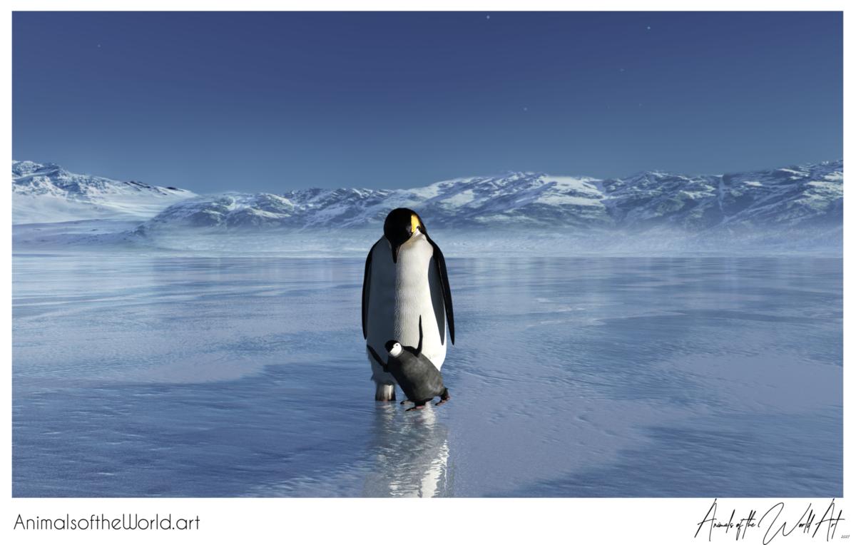 Animals of the World Art presents: Emperor Penguin