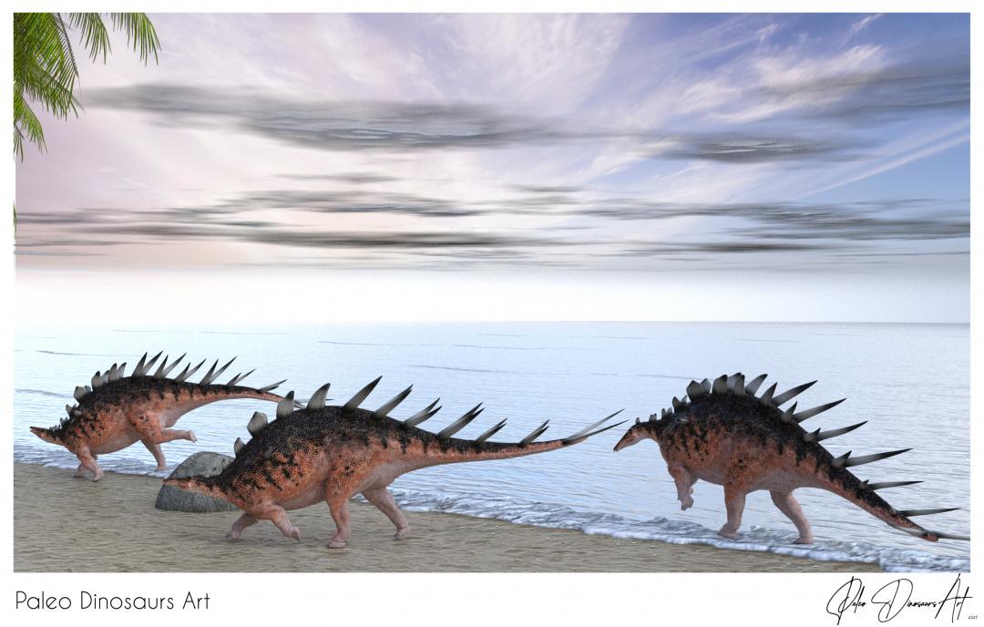 Paleo Dinosaurs Art presents: Kentrosaurus