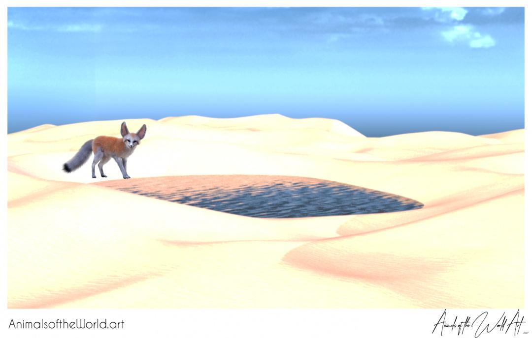 Animals of the World Art presents: Fennec Fox