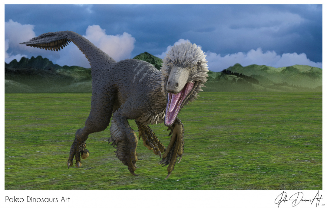Paleo Dinosaurs Art presents: Dakotaraptor
