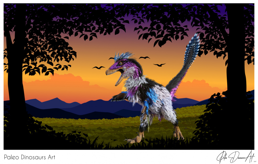 Paleo Dinosaurs Art presents: Deinonychus punk