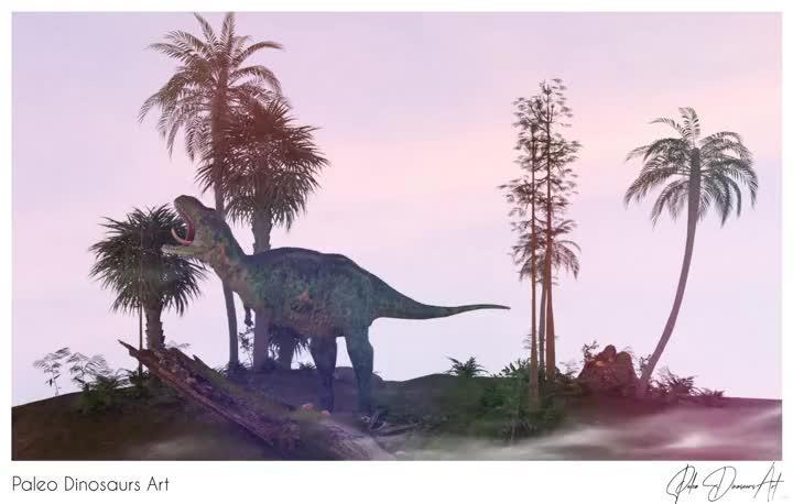 Paleo Dinosaurs Art presents: Aucasaurus
