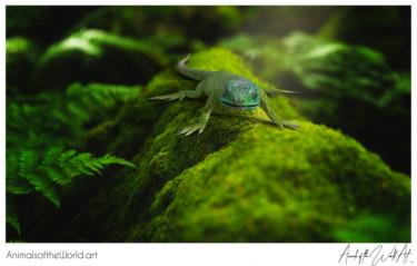 Animals of the World Art presents: European Green Lizard