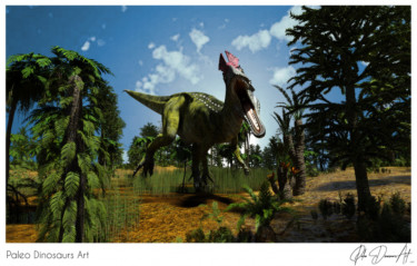 Paleo Dinosaurs Art presents: Cryolophosaurus