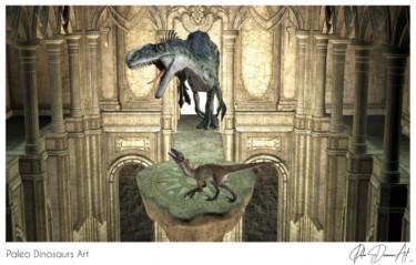 Paleo Dinosaurs Art presents: Monolophosaurus and Utahraptor Ostrommayorum